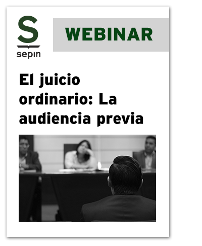 El juicio ordinario: la audiencia previa